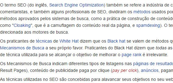 SEO na wikipedia